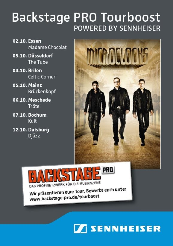 "Tourboost im Intro Magazin Ausgabe 206: microClocks auf ""Opinions are afraid of us""-Tour"